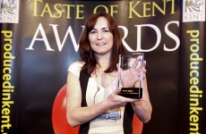 Sian Holt with her Taste of Kent Special Award  for Leadership and Vision